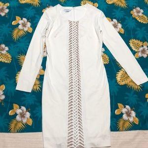 bebe Dresses - White Bebe Dress SZ M
